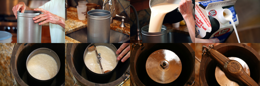 Homemade ice creamand an all american ice cream maker i ccuart Image collections