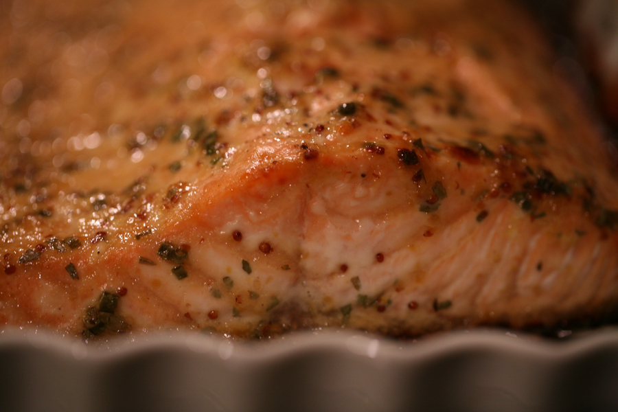 Mustard Tarragon Salmon…easy and elegant