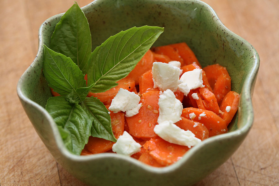 Carrot and Goat Cheese Salad