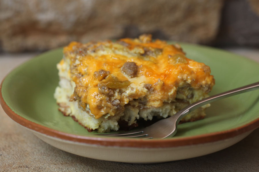 Green Chile Breakfast Casserole