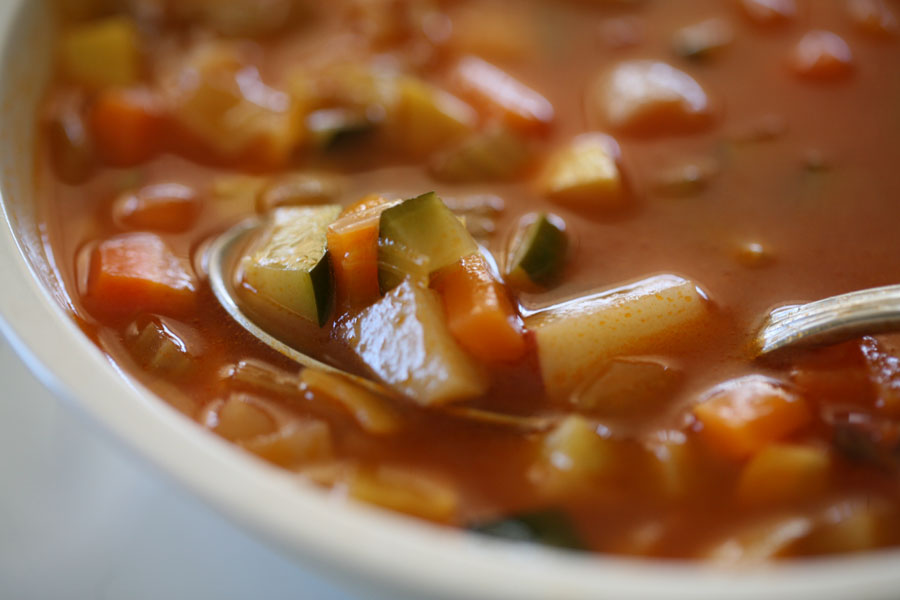 Garden Soup…a simple celebration of vegetables and herbs