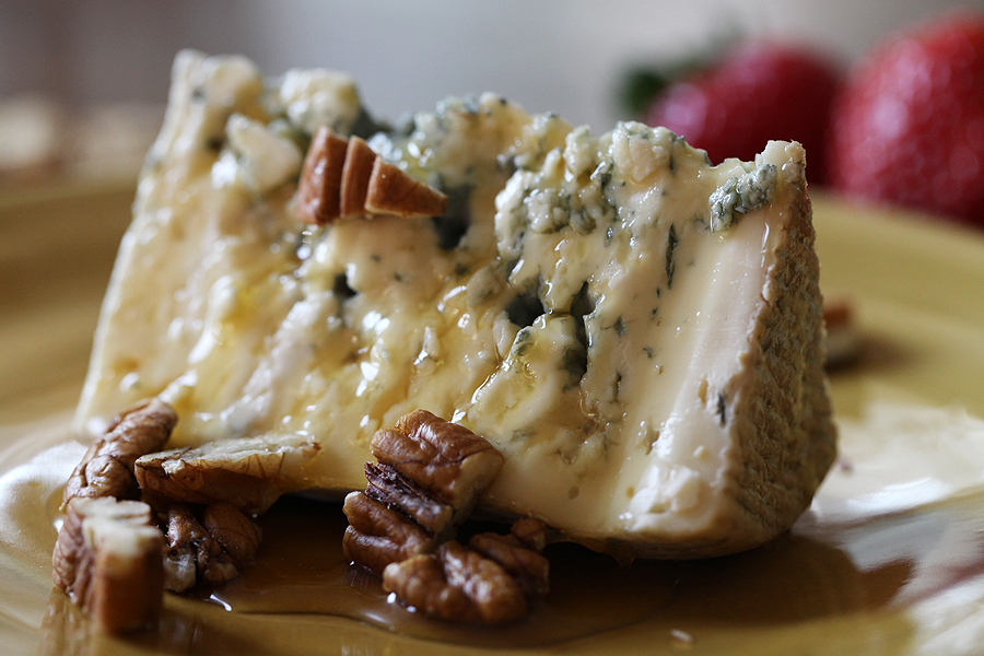 Blue Cheese and Honey…you will not believe how good this is