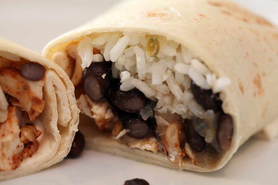 Chicken Burritos with Lime Scented Rice
