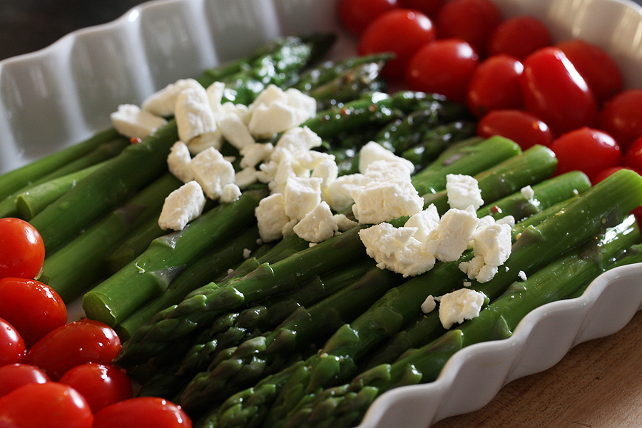 Chilled Asparagus with Feta
