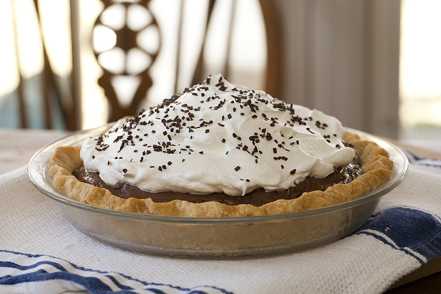 Chocolate Pie With A Leaf Lard Crust Kelly Yandell