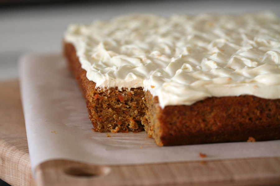Frosting for a carrot cake recipe