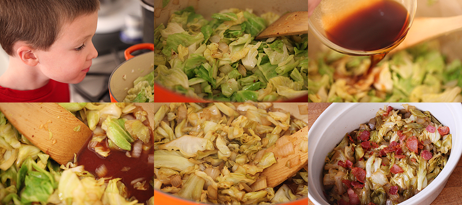 photo of preparation of sweet and sour cabbage