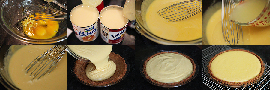 photo of preparation of lemon cream pie