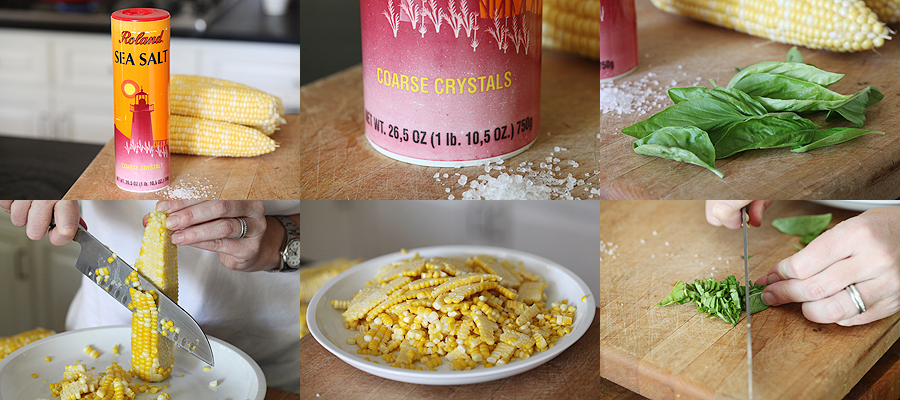 Photo of finishing recipe for fresh corn with sea salt