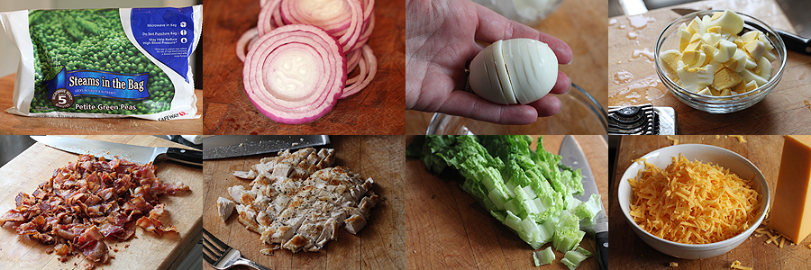 photo of ingredients for eight layer salad