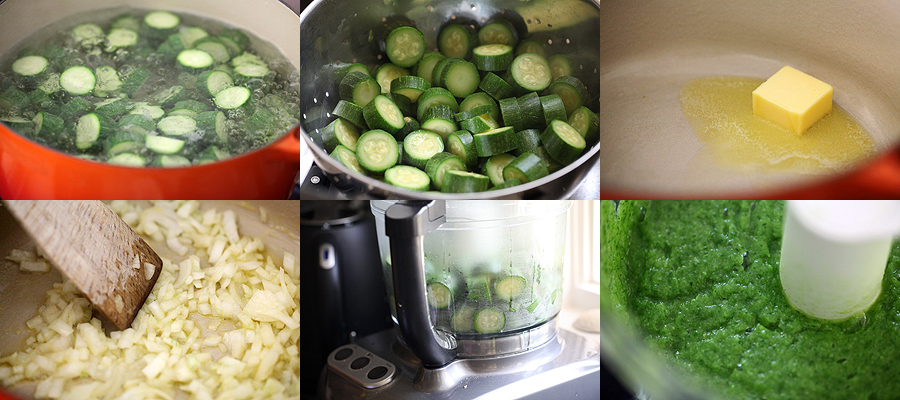 photo of how to make zucchini soup