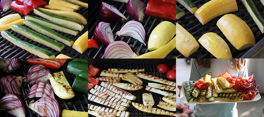 photo of grilling vegetables