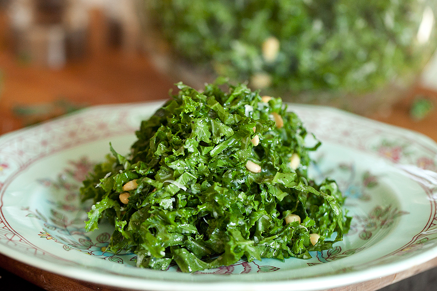 Kale Salad with Lemon and Parmesan