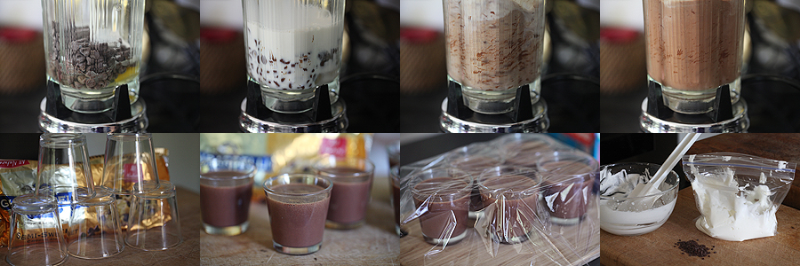 photo of how to make chocolate custard in the blender