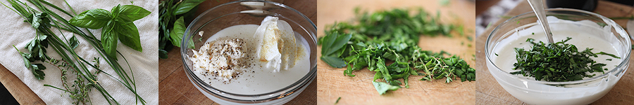 photos of fresh herbs for dressing