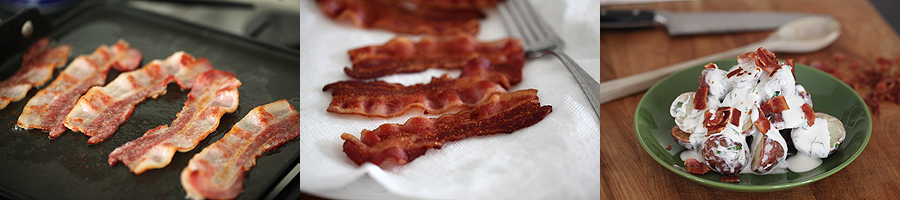 photo of bacon cookin