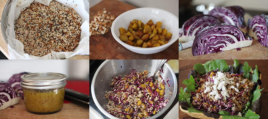 photo of how to assemble the whole grain salad