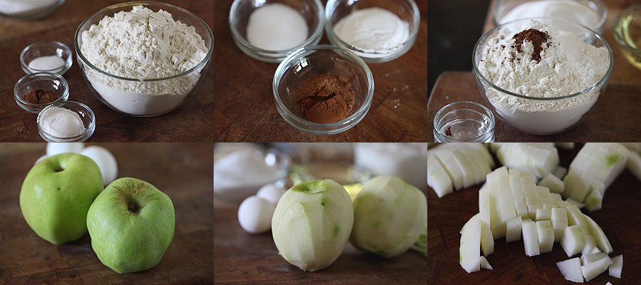 photo of ingredients for gravenstein apple cake