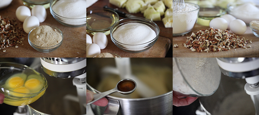 photo of mixing batter for apple cake