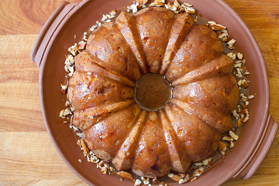 photo of heirloom apple cake