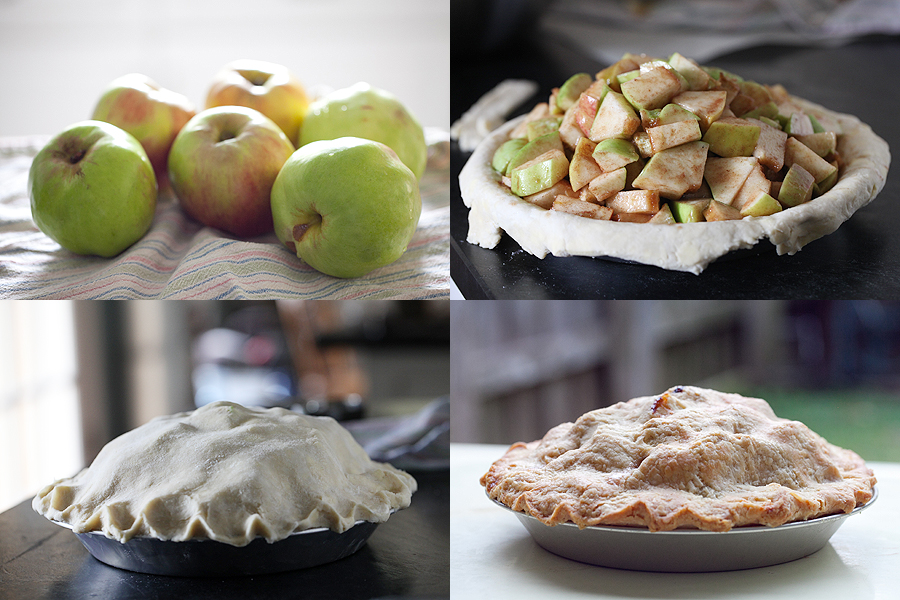 Photo of heirloom apples and pie