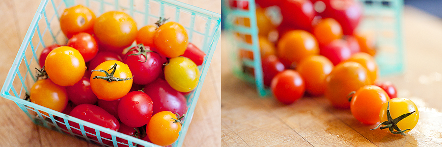 photo of baskets of tomatoes