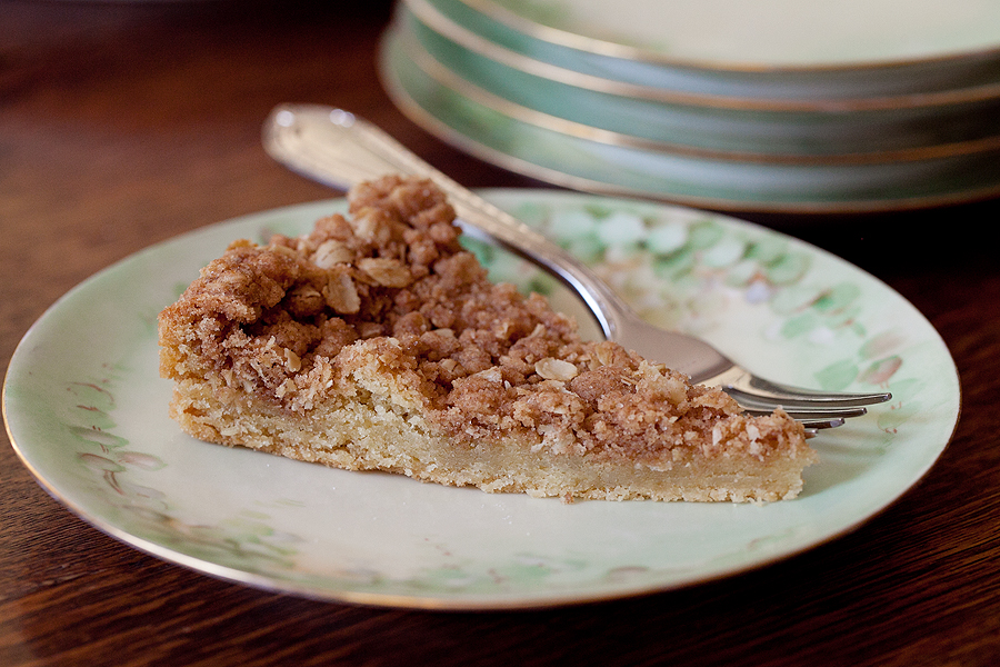 photo of slice of snickerdoodle crisp tart
