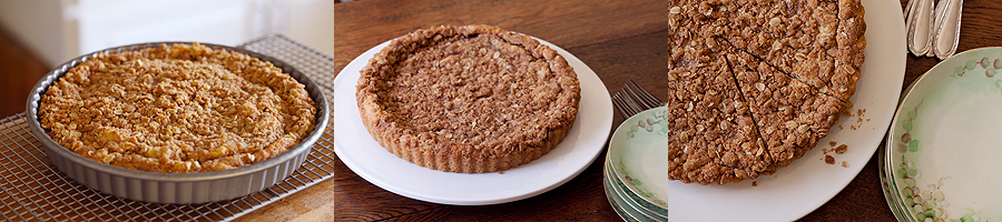 photo of baked snickerdoodle tart