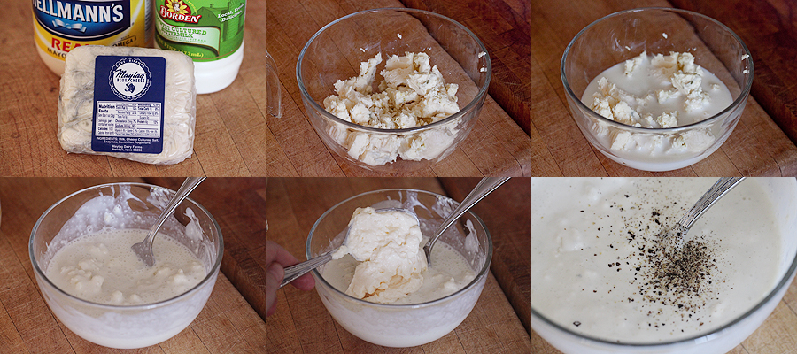 photo of how to make blue cheese salad dressing