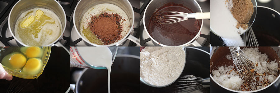 photos of how to mix mud cake