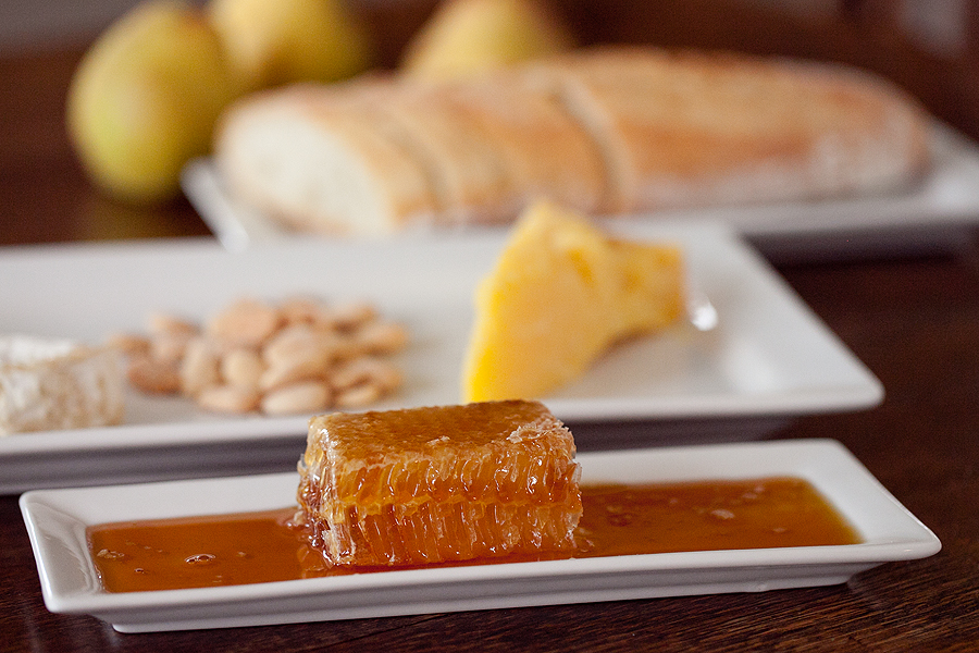 Honeycomb and Cheese Plate
