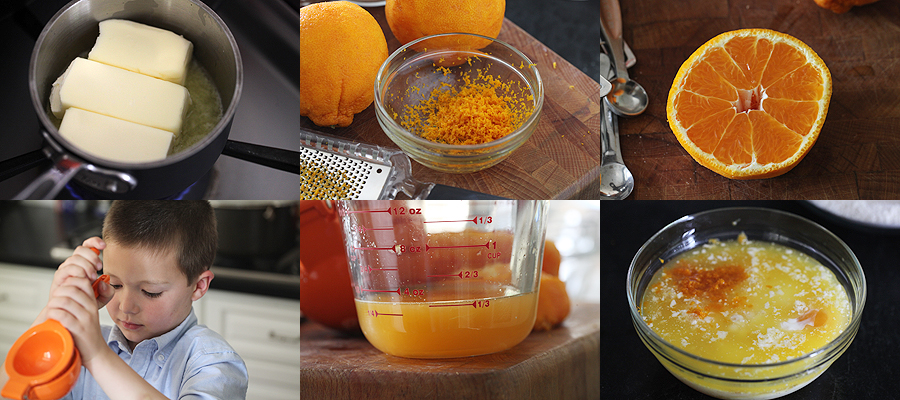 photo of ingredients for tangerine cake
