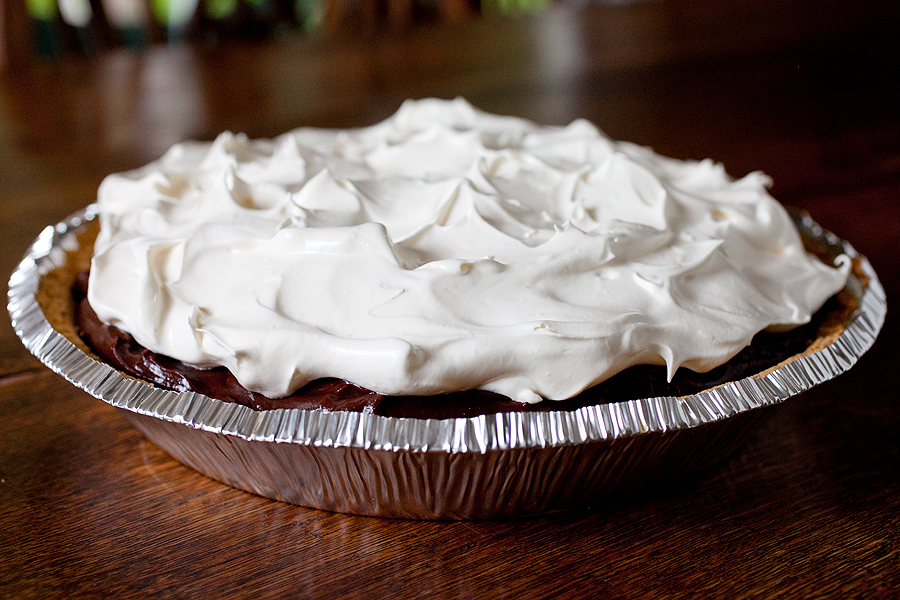 Chocolate Pudding Pie (a.k.a. My First Pie)