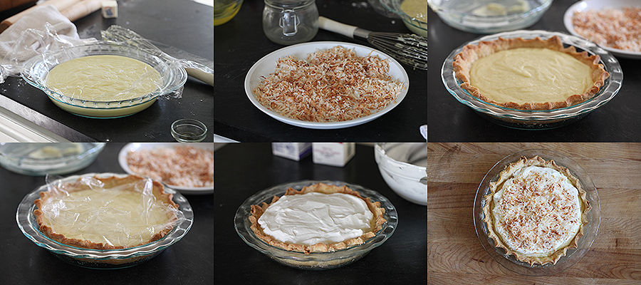 Coconut Cream Pie Assembly