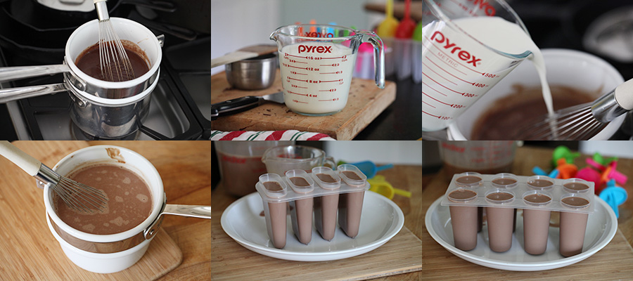 Chocolate Cream Popsicles Molds