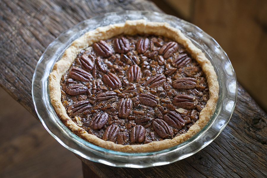 Chocolate Pecan Pie with Cane Syrup