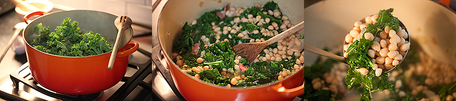 Creamer Peas with Kale