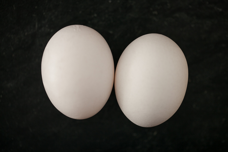 Photo of Two White Eggs