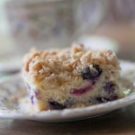 Photo of piece of blueberry buckle
