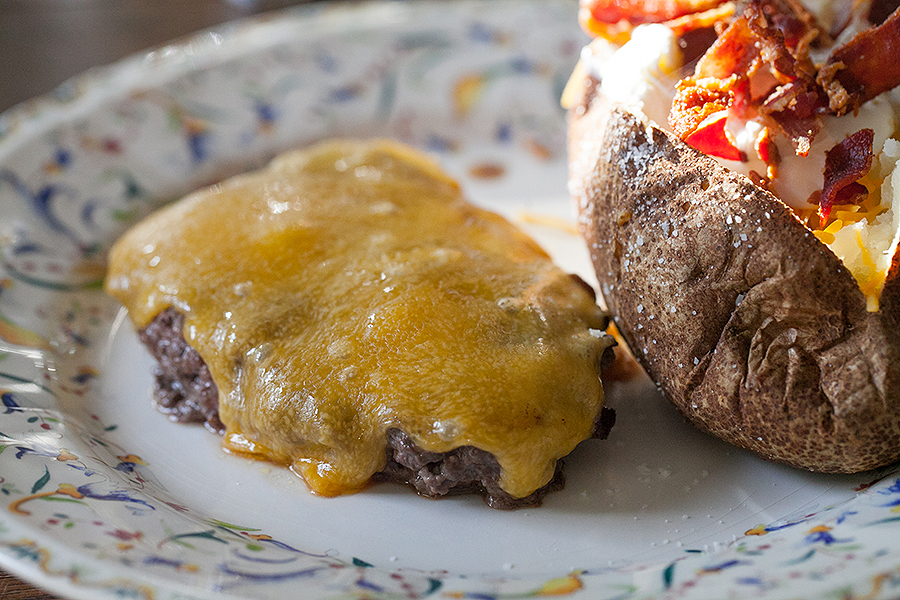 Hamburger Steak with Melted Cheese