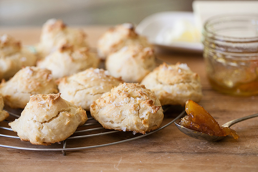 Mayonnaise Biscuits with Marmalade