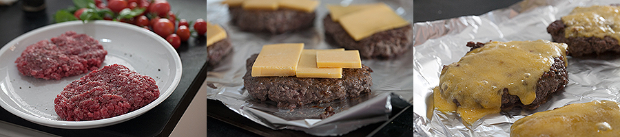 Melted Cheese on Hamburger Steaks