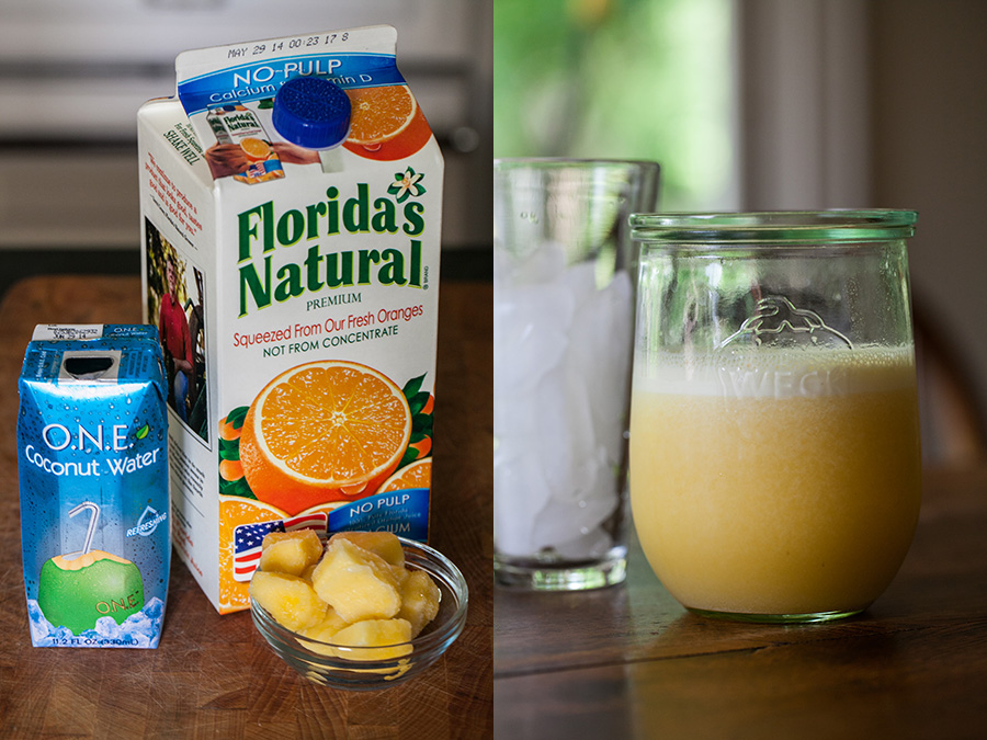 Orange Coconut Pineapple Drink Ingredients