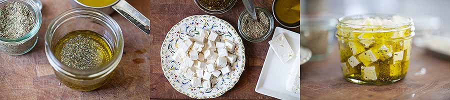 Mix Feta and Herbs